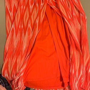 Lily Rose Dresses - Orange and White Maxi Dress